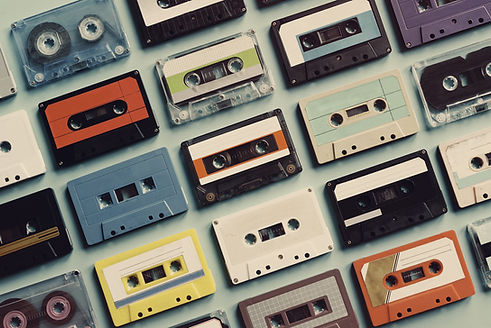 Cassette tape vintage style collection.j