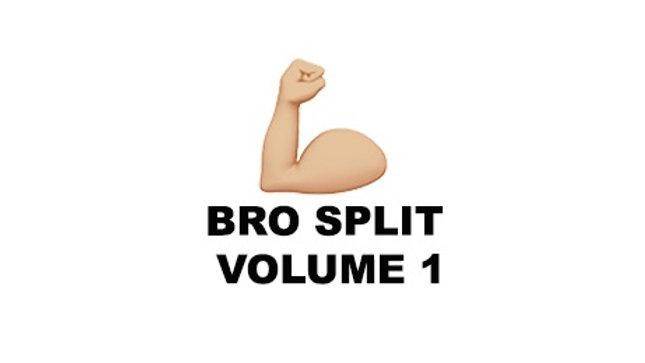 Bro Split Volume 1