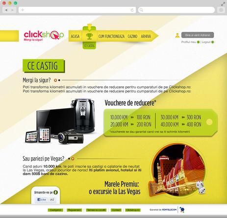 Clickshop - Bet on vegas 5