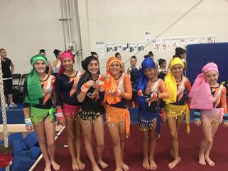 TEC gymnastics gypsies compete in first meet