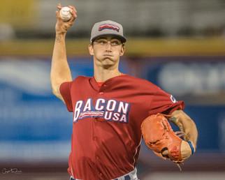 Former Liberty pitcher establishing himself