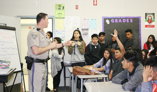 Officer teaches about dangers of drunk driving