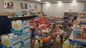 Groceries donated to caregivers