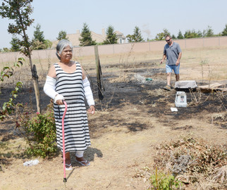 'Angel' saves woman from fire