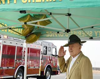 County honors sheriff Ed Bates