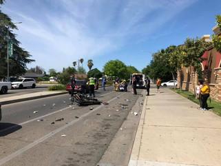 Motorcyclist injured in crash