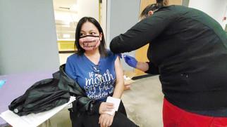 MUSD staff receiving vaccinations