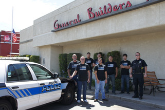 Locals selling T-shirts to support police