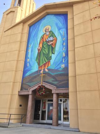 Mural of its namesake unveiled over St. Joachim Church entrance