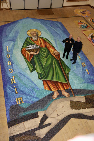 New church mosaic in progress