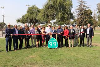 Caltrans and Madera County cut ribbon on SR 99 upgrade
