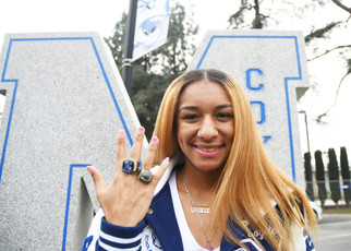Valley Champ receives her ring