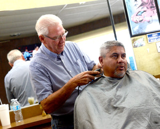 50 years of haircuts: Robert Haley observes a half-century in the same barber shop
