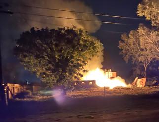 Fire razes house in Parksdale area
