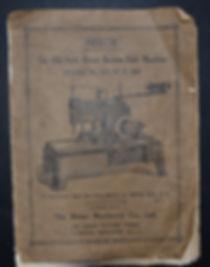 Maury Sewing Machine Company reece buttonhole manual