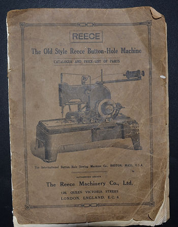 Maury Sewing Machine Company reece buttonhole manual