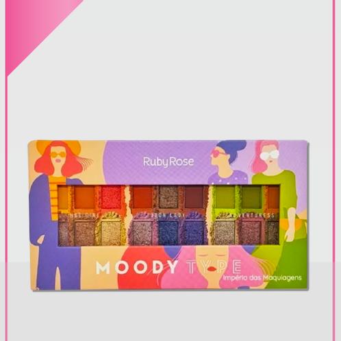 Paleta de Sombras Moody Type  Ruby Rose