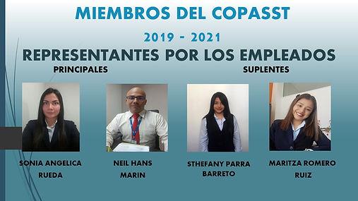 MIEMBROS DEL COPASST 2019-2021 por los t