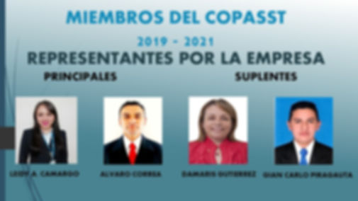 MIEMBROS DEL COPASST 2019-2021 por la em