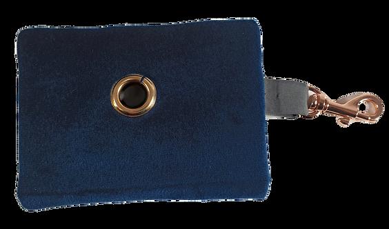 Royal Blue Velvet waste Bag Dispenser