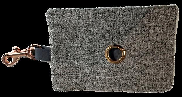 Grey Tweed waste bag dispenser