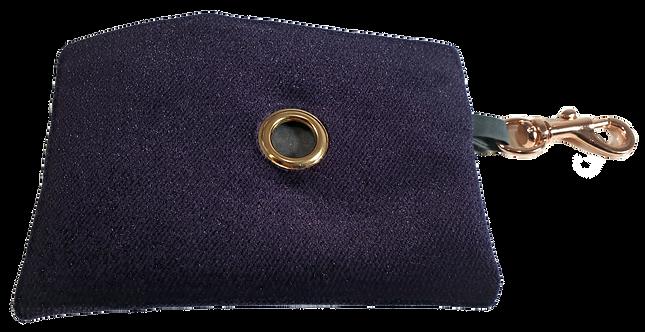 Deep Purple Velvet Poop Bag Dispenser