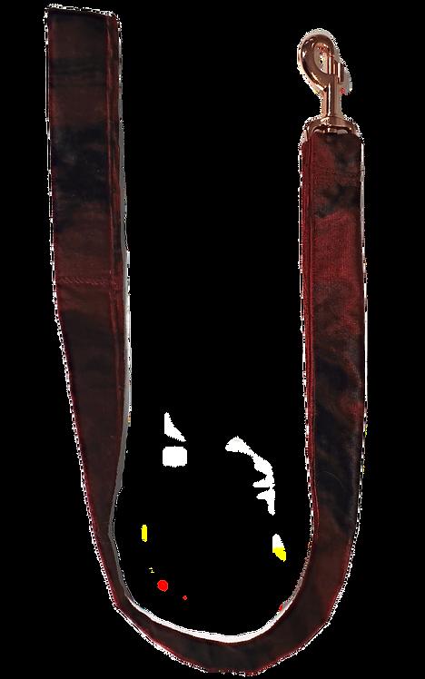 Red Marble Velvet Lead 1m