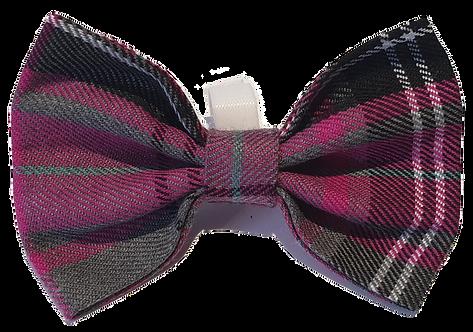 Dutchess Pink Tartan Bow