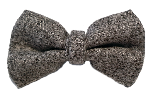 Grey Tweed Bow