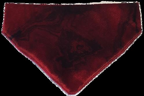 Red Marble Velvet Bandana
