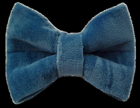 Ocean blue velvet bow