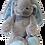 """Thumbnail: 12"""" Bunny With Custom Ear Embroidery"""