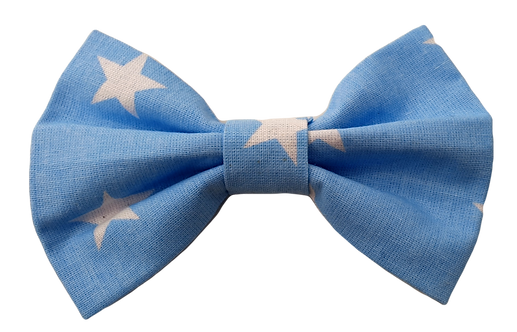 Blue with White Star Cotton Bow