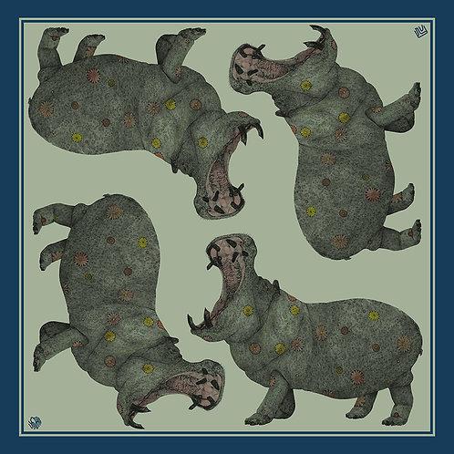 Hippopotamus scarf[河馬・スカーフ ]