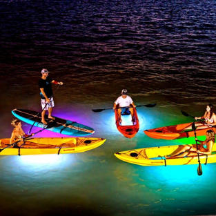 Night paddle with lights (90min)