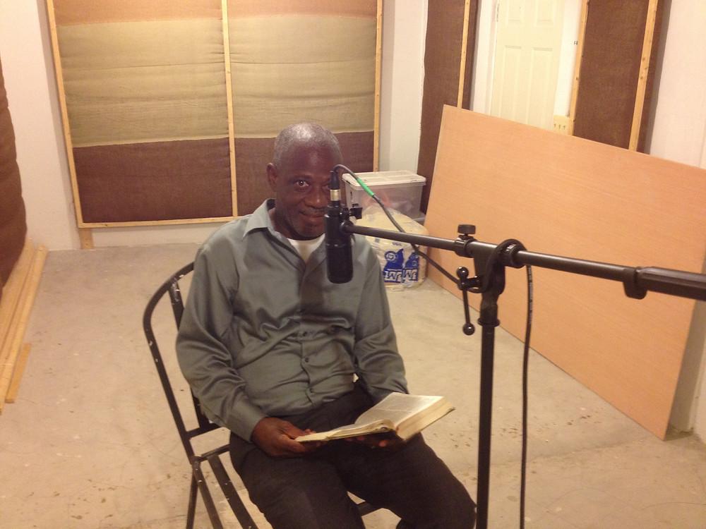 Pastor Jean Marie recording for Gras Plis Gras (CBH-Haitian Creole