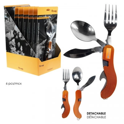 OLYMPIA - MULTI-CUTLERY, 5 FUNCTION, 6PCS DISPLAY