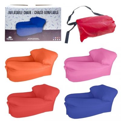 OLMYPIA - INFLATABLE SUNBATH CHAIR, COMPACT, ASST COLORS