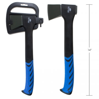 """AXE, FORGED CARBON STEEL, 14"""", 410 G"""