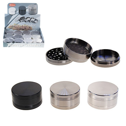3TP - COMPACT METAL GRINDER, 12 PCS DISPLAY, ASST. COLORS
