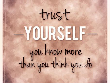 Practica la confianza en ti mismo.