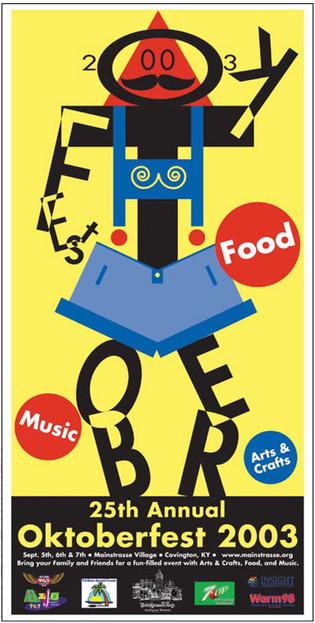 1st Place Winner – Oktoberfest Poster Competition, Covington, KY