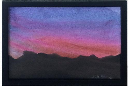 Sunset Leaves the Desert