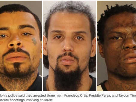 3 arrested in Philadelphia shootings of 2 children