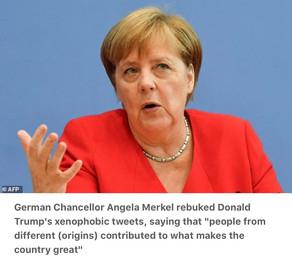 Merkel says Trump tweets go against what makes America great