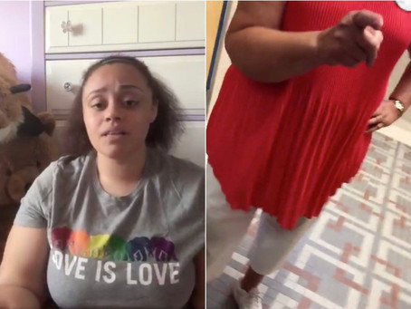 A video shows a woman following a 19-year-old girl into a church bathroom just to tell her she fat