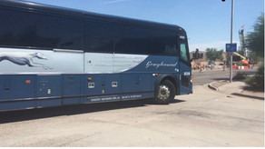 Greyhound bus driver quits mid-trip leaving passengers stranded for nine hours