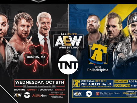 Tickets for AEW on TNT in Boston and Philadelphia are about to go on sale