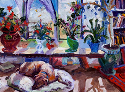 Sunroom I, 24x18, Oil on Canvas