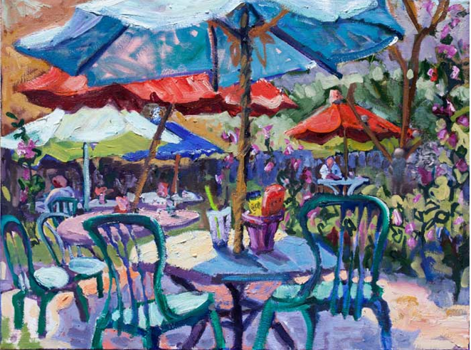 Lunch at Harrys , 18x24, Oil on canvas, Sold